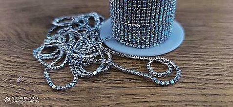 Komponenty - Štrasová borta - Crystal - cena za 10 cm (Pestrofarebná) - 13071658_