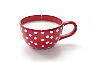 Nádoby - Červená šálka na kávičku - 13072129_
