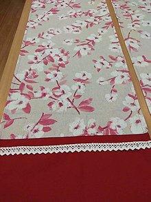 Úžitkový textil - Štóla japonská čerešňa - 13075002_