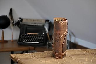 Papiernictvo - kombinovaný kožený zápisník ARSAIDH - 13072406_