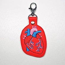 Kľúčenky - Kľúčenka srdce anatomické farebné - 13072472_