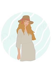 """Grafika - Ilustrácia """"Boheme girl II. """" - 13074408_"""