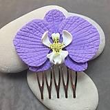 Iné šperky - Fialova orchidea  hrebienok do vlasov - 13075417_