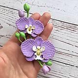 Náhrdelníky - Fialova orchidea  nahrdelnik choker - 13075473_