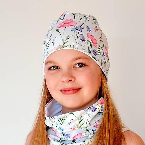 LÚČNA obojstranná čiapka | čelenka | nákrčník | súprava
