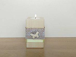 Svietidlá a sviečky - Jarný svietnik 🦋 - 13074029_