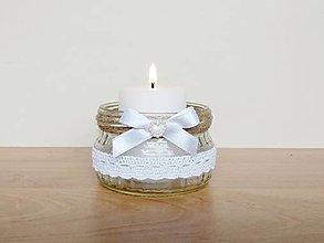 Svietidlá a sviečky - Svadobný svietnik ❤️ - 13074039_