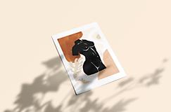 Grafika - Plagát-Abstrakcia-ženské telo-socha - 13073375_