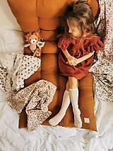 Detské doplnky - Mušelínka 120x120 cm - mušelínová plienka s prírodným motívom (hnedé dúhy) - 13074859_