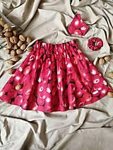 """Detské oblečenie - Červená sukňa """"na zahryznutie"""" - 13071931_"""