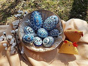 Dekorácie - Sada modrých kraslíc A - 13074638_