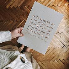 Grafika - print / typografia PRÍDU AJ LEPŠIE DNI, LEN MUSÍŠ POČKAŤ - 13072483_