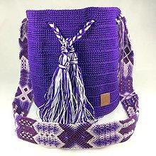 Kabelky - WAYALA bag (wayuu bag style)- fialová - 13075329_