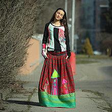 Sukne - Origo sukňa karo domceky - 13074437_