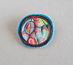Odznaky/Brošne - farebné bludisko - 13076480_