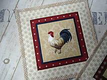 Úžitkový textil - Kohúti z Provence... No.3 - 13077529_