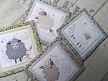 Úžitkový textil - Ovečky... podložky 4 ks  - 13078335_