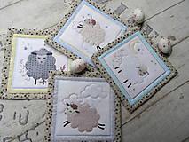 Úžitkový textil - Ovečky... podložky 4 ks  - 13078336_