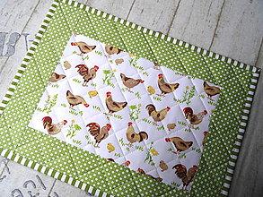Úžitkový textil - Sliepočky... prestieranie 2 ks - 13076962_