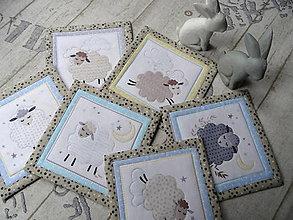 Úžitkový textil - Ovečky... podložky 6 ks - 13078327_