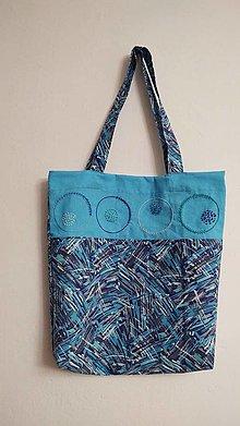 Nákupné tašky - Taška - modrá lagúna - 13079322_