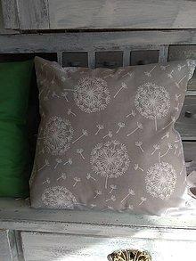 Úžitkový textil - Vankúš púpavy - 13077574_
