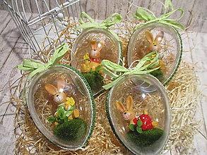 Dekorácie - Veľkonočné vajíčka Zajkovia - 13079371_