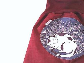 """Detské oblečenie - Softshellky jarné """"sleeping kitty"""" - 13076901_"""