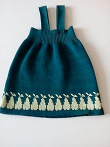 Detské oblečenie - Detská pletená sukňa - 13077301_