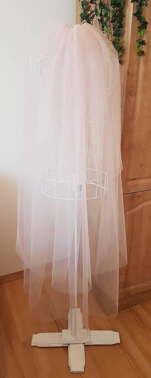 Svadobný závoj -  staroružová farba