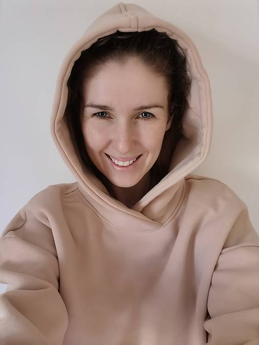 Detské oblečenie - LAHODA súprava oversized minimalist (nude) - 13077196_