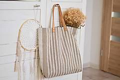 Veľké tašky - Lina (ľanová taška) - 13083521_