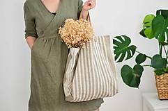 Veľké tašky - Lina (ľanová taška) - 13083522_