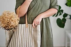 Veľké tašky - Lina (ľanová taška) - 13083523_