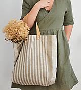 Veľké tašky - Lina (ľanová taška) - 13083524_