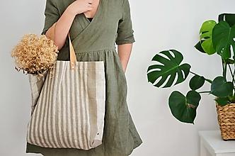 Veľké tašky - Lina (ľanová taška) - 13083525_