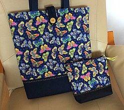 Nákupné tašky - taška motýle - 13080764_