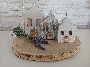 Dekorácie - Sada domčekov - 13080455_