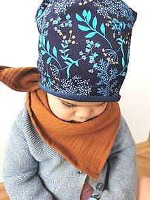 """Detské čiapky - Dvojvrstvová čiapka """"na modrej lúke"""" - 13084551_"""