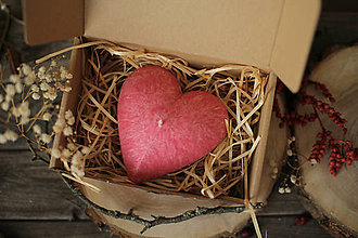 Svietidlá a sviečky - Srdiečko ♥ (v darčekovom balení) - 13081722_
