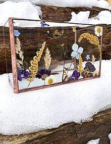 Svietidlá a sviečky - Svietnik s lúčnymi kvetmi - 13083717_