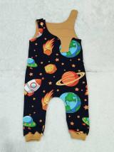 Detské oblečenie - Tepláčiky na traky vesmír - 13080224_