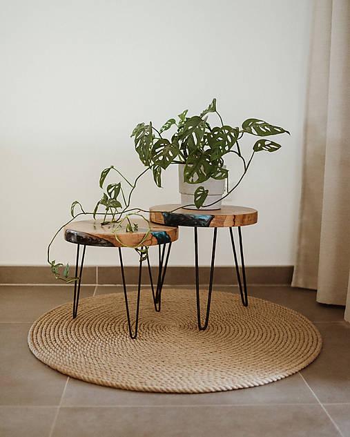 Úžitkový textil - Okrúhly prírodný koberec - 13082560_