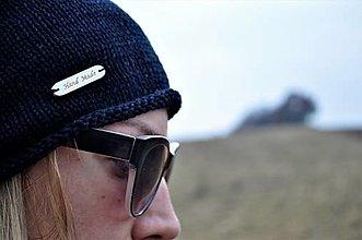 Čiapky - Čierna bavlnená čiapka - 13086619_