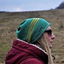 Čiapky - Zeleno-žltá bavlnená čiapka - 13087042_