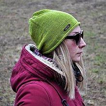 Čiapky - Svetlo zelená bavlnená čiapka - 13087175_