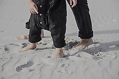 Detské oblečenie - BALTIK overal čierny - 13087588_