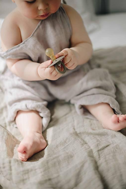 Detské oblečenie - MATEJ overal šedý - 13086965_