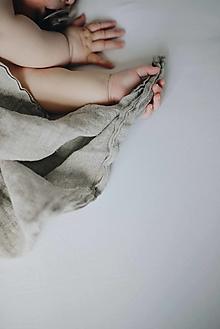 Detské doplnky - Ľanová prítulka pre bábätko NATURAL - 13087289_