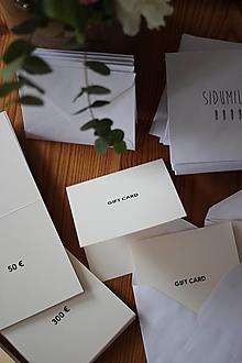 Darčekové poukážky - GIFT CARD SIDUMILU - 13087695_